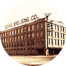 the historic Bemis Building in a dated photo circa 1914